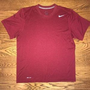 Nike Dri-Fit maroon T-shirt